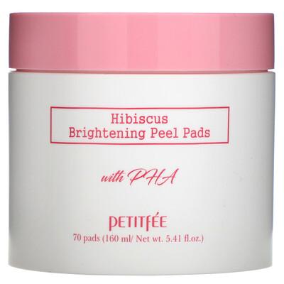 Petitfee Hibiscus, Brightening Peel Pads, 70 Pads, 5.41 fl.oz (160 ml)