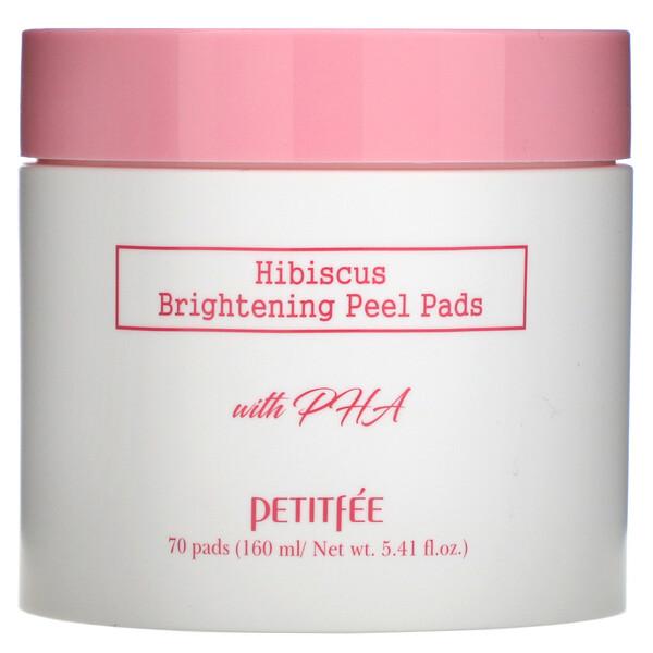 Hibiscus, Brightening Peel Pads, 70 Pads, 5.41 fl.oz (160 ml)
