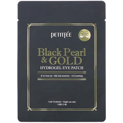 Купить Petitfee Black Pearl & Gold, Hydrogel Eye Patch, 1 Pair