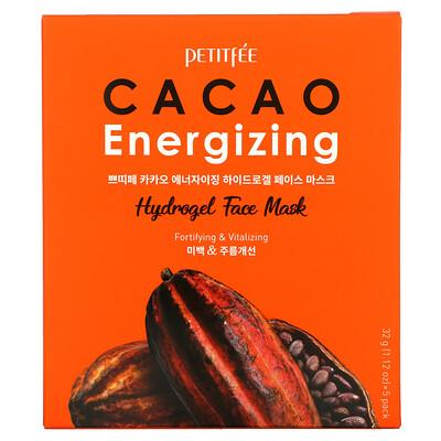 Купить Petitfee Cacao Energizing Hydrogel Face Mask, 5 Pack, 1.12 oz (32 g)