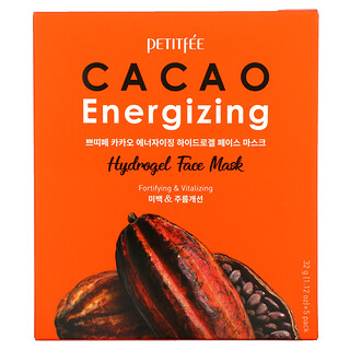 Petitfee, Cacao Energizing Hydrogel Beauty Face Mask, 5 Pack, 1.12 oz (32 g)