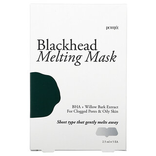 Petitfee, Blackhead Melting Mask, 5 Patches, 2.5 ml Each