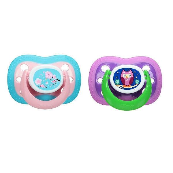 Playtex Baby, Binky, Silicone Pacifier, 0-6 Months, 2 Silicone Pacifiers (Discontinued Item)