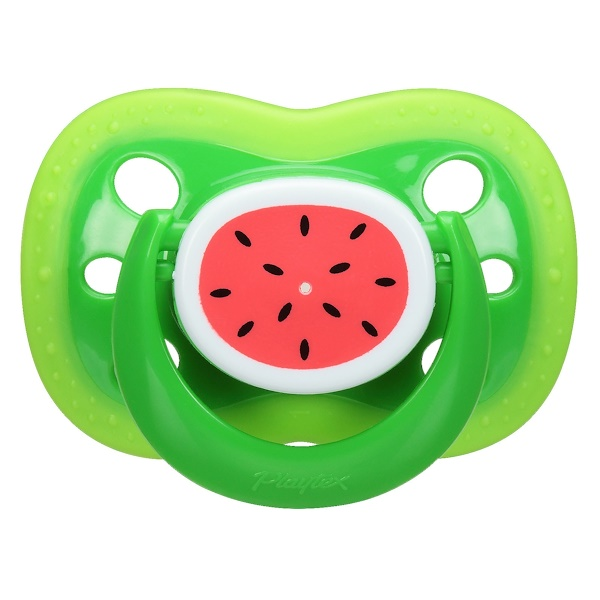 Playtex Baby, Binky, Silicone Pacifier, 6 + Months, 2 Silicone Pacifiers (Discontinued Item)