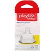 Playtex Baby, NaturaLatch, entre 3 y 6 meses para arriba, 2 tetinas de solicona de flujo rápido