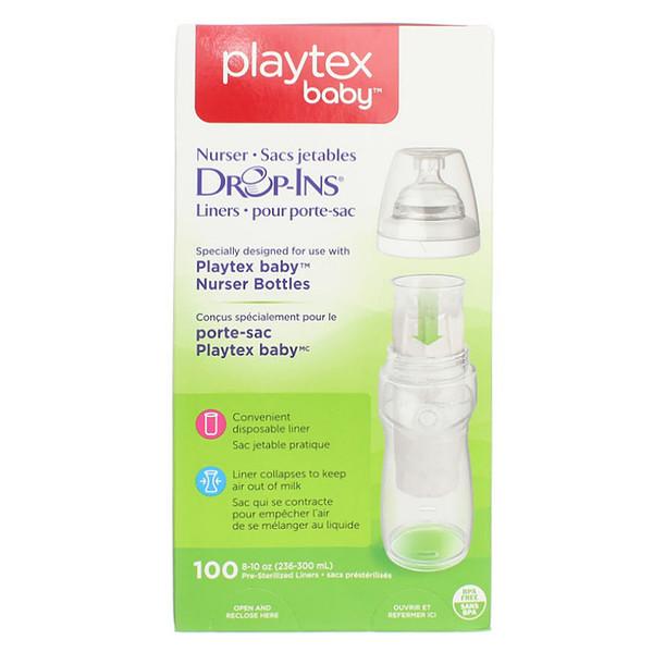 Playtex Baby, Bolsas de biberón para amamantar, 100 bolsas para insertar, 8-10 oz. (236-300 ml.) c/u