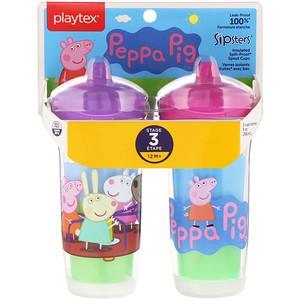 Плэйтэкс, Sipsters, Peppa Pig, 12+ Months, 2 Cups, 9 oz (266 ml) Each отзывы покупателей