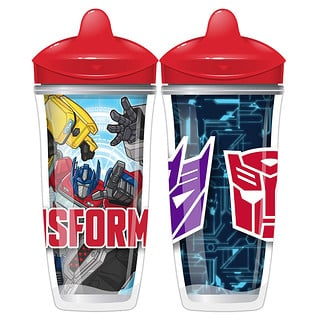 Playtex Baby, Sipsters, Transformers, mayor de 12 meses, 2 vasos, 9 oz. (266 ml.) c/u