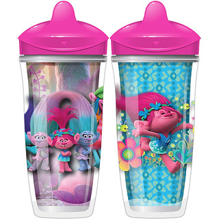 Playtex Baby, Sipsters, Trolls, mayor de 12 meses, 2 vasos, 9 oz. (266 ml.) c/u
