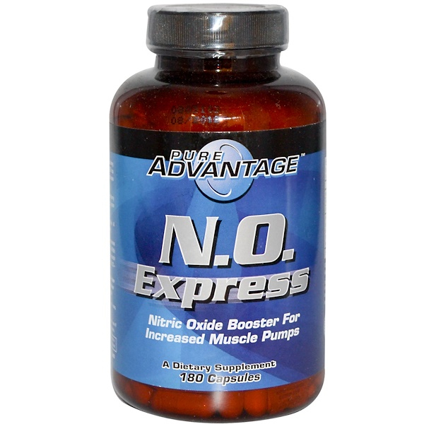 Pure Advantage, N.O. Express, Усилитель окиси азота, 180 капсул (Discontinued Item)