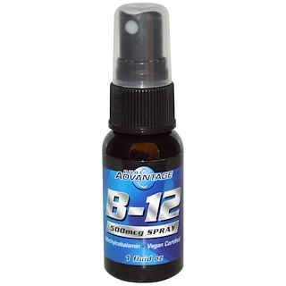 Pure Advantage, B-12, 500 mcg Spray, 1 fl oz