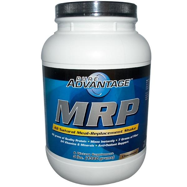 Pure Advantage, MRP,巧克力味奶昔代餐,3磅(1380克)