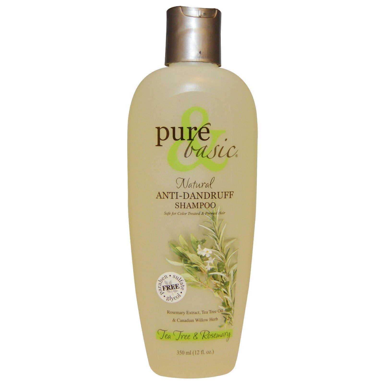 Pure Basic Natural Anti Dandruff Shampoo Tea Tree Rosemary 12