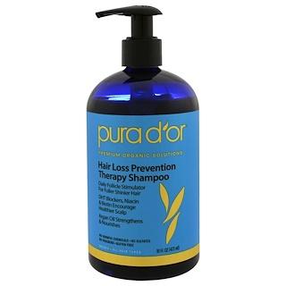 Pura D'or, Терапевтический шампунь от выпадения волос, 16 жидких унций (473 мл)