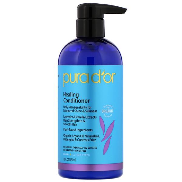 Pura D'or, Healing Conditioner, 16 fl oz (473 ml)