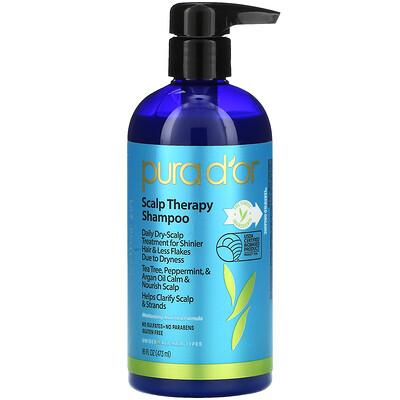 Купить Pura D'or ScalpTherapyShampoo, шампунь для ухода за кожей головы, 473мл (16жидк.унций)