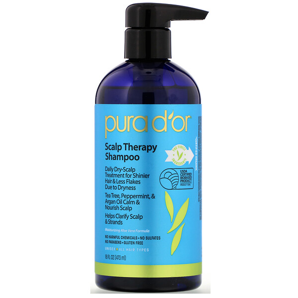 Pura D'or, Scalp Therapy Shampoo, 16 fl oz (473 ml)