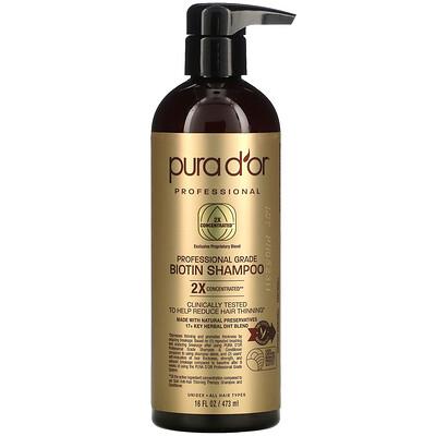 Pura D'or Professional Grade Biotin Shampoo, 16 fl oz (473 ml)