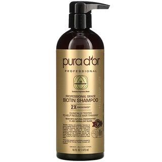 Pura D'or, Professional, Biotin Shampoo, 16 fl oz (473 ml)