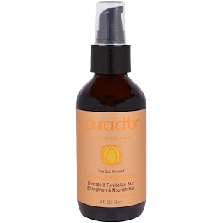 Pura D'or, 100% Argan Oil, 4 fl oz (118 ml)