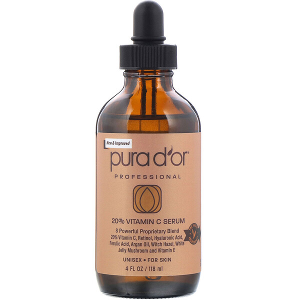 Pura D'or, Professional, 20% Vitamin C Serum, 4 fl oz (118 ml)