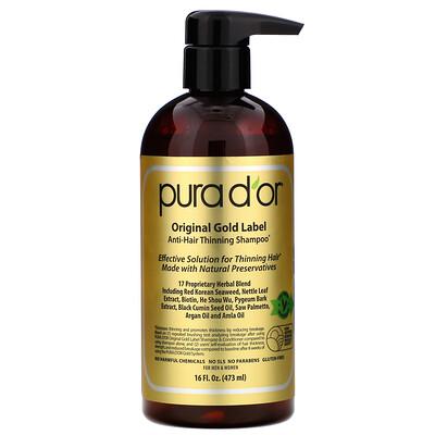 Pura D'or Шампунь против выпадения волос, 473мл (16жидк.унций)