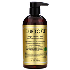 Pura D'or, 防止頭髮稀疏洗髮水,16液量盎司(473毫升)