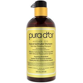 Pura D'or, Шампунь от выпадения волос для мужчин и женщин, 473 мл