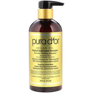 Pura D'or, Anti-Hair Thinning Shampoo, 16 fl oz (473 ml)