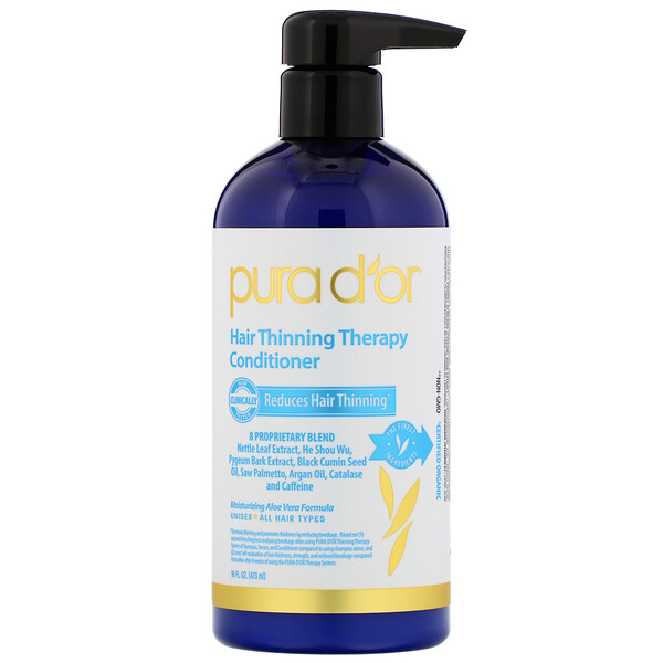 Pura D'or, Hair Thinning Therapy Conditioner, 16 fl oz (473 ml)