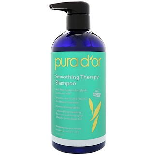 Pura D'or, Smoothing Therapy Shampoo, 16 fl oz (473 ml)