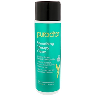 Pura D'or, Smoothing Therapy Cream, 8 fl oz (237 ml)