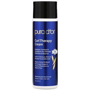 Pura D'or, Curl Therapy Cream, 8 fl oz (237 ml)