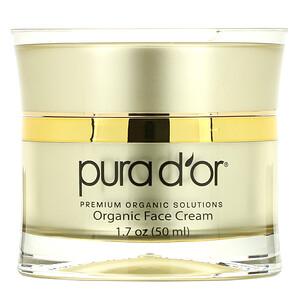 Pura D'or, Golden Glow Face Cream PM, 1.7 oz (50 ml)