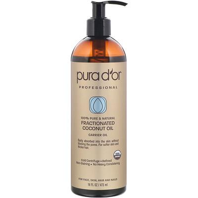 Купить Pura D'or Профессиональное фракционированное кокосовое масло, 473мл (16жидк.унций)