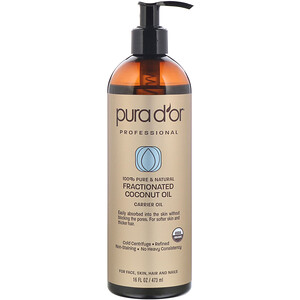 Pura D'or, Professional, Fractionated Coconut Oil, 16 fl oz (473 ml)