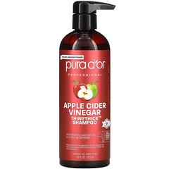 Pura D'or, 蘋果醋,Thin2Thick,洗髮水,16 盎司(473 毫升)