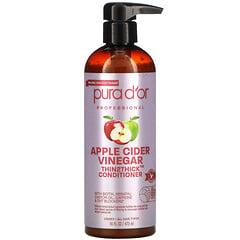 Pura D'or, 專業,蘋果醋 Thin2Thick,護髮素,16 液量盎司(473 毫升)