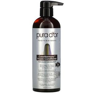 Pura D'or, Professional, ColorHarmony Purple Conditioner, 16 fl oz (473 ml)