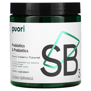 Puori, Probiotics & Prebiotic, Natural Cranberry, 30 Sticks, 4.5 g Each