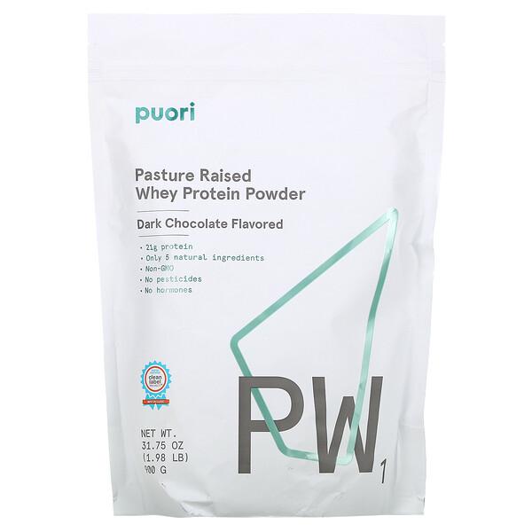 PW1, Pasture Raised Whey Protein Powder, Dark Chocolate, 1.98 lb (900 g)