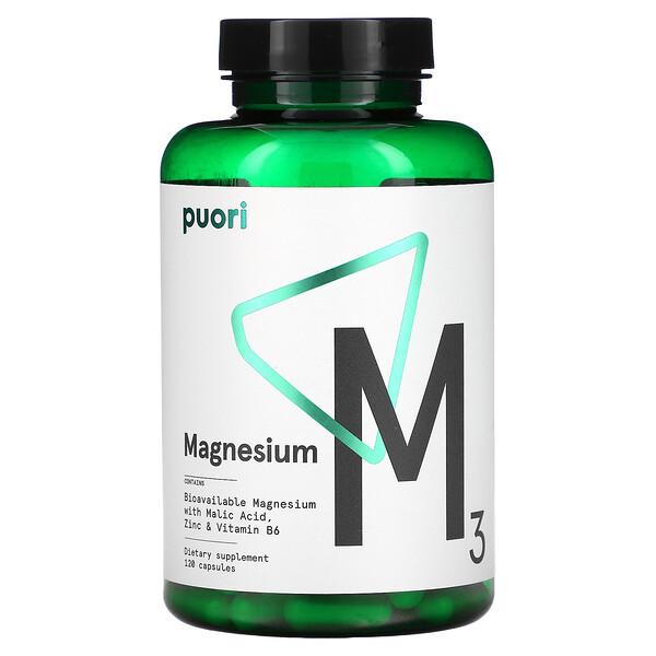 M3, Magnesium, 120 Capsules