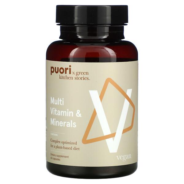Puori, V, Multi Vitamin & Minerals, 60 Capsules