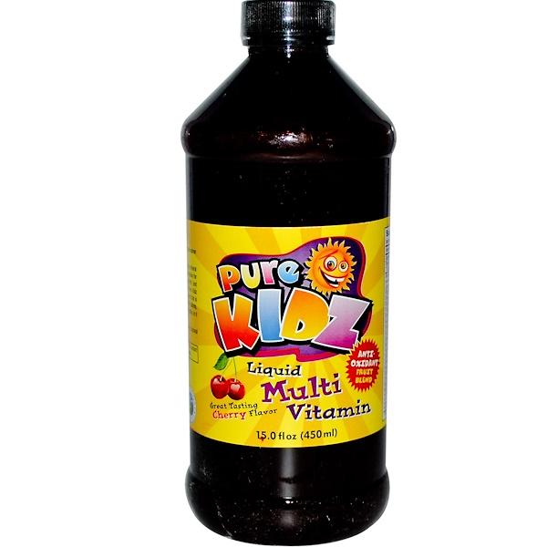 Pure Kidz, Liquid Multi Vitamin, Cherry Flavor, 15.0 fl. (450ml)  (Discontinued Item)