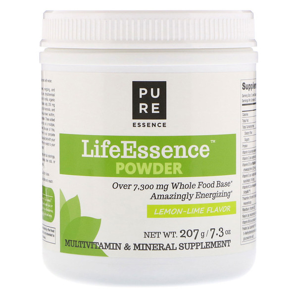Pure Essence, LifeEssence Powder, Lemon-Lime Flavor, 7.3 oz (207 g) (Discontinued Item)