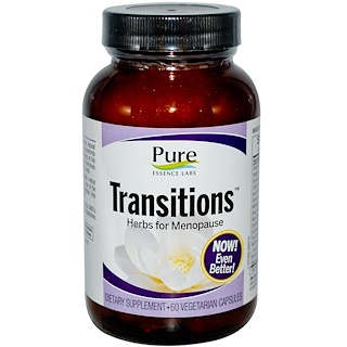 Pure Essence, Transitions, Herbs for Menopause, 60 Veggie Caps