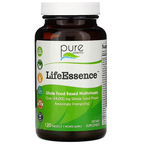 Pure Essence, LifeEssence, 120 Tablets