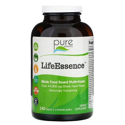 Купить Pure Essence LifeEssence, цельнопищевые мультивитамины, 240таблеток