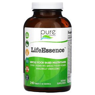 Pure Essence, LifeEssence, Whole Food Based Multivitamin, 240 Tablets