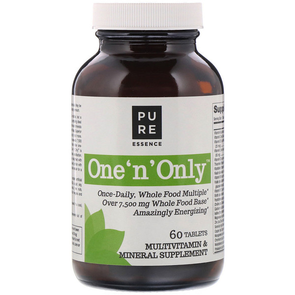 Pure Essence, One 'n' Only, Multivitamin & Mineral, 60 Tablets